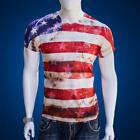 USA American Flag Stars and Stripes Slim Fit T-Shirt July 4 Independence Day image