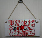 Passed Out Santa Sign Plaque Very Merry Christmas Sandwich Fun Xmas Door Wood
