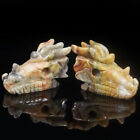 natural gemstone crystal healing carved dragon head carving figurine collectible