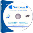 Windows 8 Home and Professional Recovery Reinstall PC Laptop DVD Disk Disc