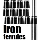 12 Ferrules iron hybrid (Select Style-Size .370-.355) for TaylorMade or Callaway