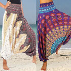 Women Boho Baggy Hippie Harem Aladdin Gypsy Gym Yoga Pants P