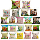 Easter Sofa Bed Home Decoration Festival Flax Throw Pillow Case Cushion Cover