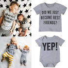Toddler Kid Baby Boy Brother Matching Clothes Romper Jumsuit