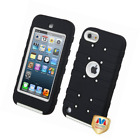 Asmyna Natural Ivory White/Black TUFF eNUFF Hybrid Protector Cover for iPod touc