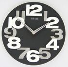 Modern Wall Clock 3D Cut-Out Colorful Round 12 Wall Clock - Black