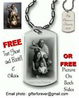 Personalized Laser Engraved Dog Tag - Custom Photo Etch Plus