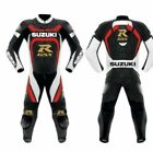 Mens Suzuki GSXR Motorcycle Cowhide Leather Suit Sports Motorbike Leather Suit