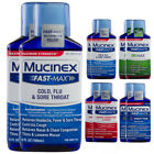 2pk Mucinex Extra Strength Cough Syrup Fast-Max Liquid Cold Flu Relief Medicine
