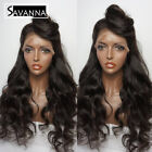 Long Wave Synthetic Lace Front Wig Black Color Wig With Baby Hair Lace Hair Wigs