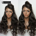 Best Hair Wig With Babies - Long Wave Synthetic Lace Front Wig Black Color Review