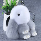 Lovely Bunny Faux Rabbit Fur Phone Car Pendant Handbag Charm Key Chain AU Local
