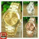 Geneva Fashion Women Ladies Girl Stainless Steel Band Analog Quartz Wrist Watch image