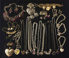 Various Heart Valentine Bracelet, Necklace, Earring, Watch Jewelry - You Pick
