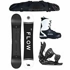 NEW 2018 Flow Merc Wide + ALPHA Bindings + Boots + Bag Mens Snowboard Package