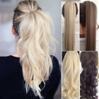 US Clip In Hair Extension Wrap Around clip on in ponytail hair natural as remy