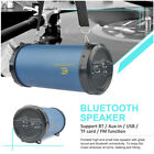 Bluetooth Powerful Stereo Loud Speaker Cylinder Portable Hi-Fi FM/USB/TF/AUX NEW