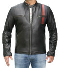 Mens Bespoke Speed Fashion Leather Jacket Real Cowhide Men Leather Jacket