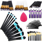 10x Cosmetic Foundation Eyeshadow Concealer Powder Contour Make Up Brushes Set