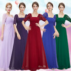 Ever-Pretty Women Long Lace Short Sleeve Bridesmaid Evening Party Dresses 08038