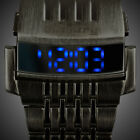 INFANTRY MENS LED DIGITAL WRIST WATCH LIGHT SPORT MILITARY ARMY STAINLESS STEEL