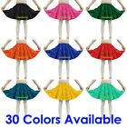 Satin 3 Tiered Mini Skirt Belly Dance Jupe Tribal Pleated Retro Elastic Ruffle