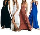 Wedding Bridesmaid Summer Beach Formal Gown Evening Prom Party Maxi Long Dress