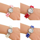 Fashion Women Pearl Bracelet Watch Analog Quartz Wrist Watches Students Watches image