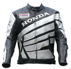 Mens HRC Motorcycle Leather Jacket Sport Motorbike Leather Jacket Cowhide Jacket
