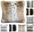Faux Fur Mink Fox Stripe Arctic Soft Scatter Cushion Covers Cosy Fleece Blanket
