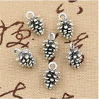 Внешний вид - 50Pcs Antique Tibet Silver Charms DIY 3D Pine Cone Pendants For Jewelry Making