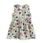 Toddler Girl Kid Baby Summer Dress Princess Print Party Wedding Sleeveless Dress