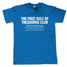 Thesaurus Club Mens Funny Movie T Shirt - Fathers Day Birthday Gift for Dad Joke