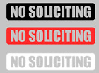 no soliciting sign decal sticker vinyl