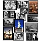 Magnetic Picture Frames Refrigerator Photo Pack Various Sizes 15 Pack Black