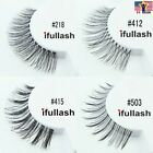 # 218 412 415 503 Lot 1 3 6 12 pairs ifullash Human Hair Fake False Eyelashes
