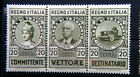 1936 ITALY triptych stamps Revenue cts 20 for Road Haulage TRUCK