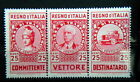 1936 ITALY triptych stamps Revenue cts 25 for Road Haulage TRUCK