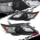 2010 2011 Toyota Camry Replacement Projcetor Factory Style Black Headlights Pair