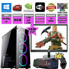 "I3 Gaming PC + Monitor Bundle GTA Gaming PC 8GB RAM Desktop Computer 1TB 22"" TFT"