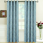 Regalia Abstract Jacquard Textured Grommet Top Curtain Panels (Set of 2)