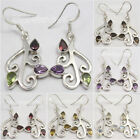 925 Silver EXOTIC TRENDY Earrings MULTISTONES & Select Other Gemstone Of Choice