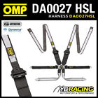 NEW! DA0027HSL OMP RALLY WRC PROFESSIONAL HARNESS 6-POINT HANS ONLY DYNEEMA