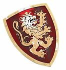 BestSaller 45 x 34.5 cm Noble Knight Shield (Red/Gold)