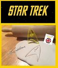 Star Trek Starfleet Insignia Cookie Cutter Cupcake Topper Fondant Gingerbread