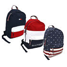 Tommy Hilfiger Backpack Canvas Travel Book Bag 2 Pocket Mens Womens School New