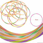 MULTICOLOUR 70CM STRIPS CHILDREN ADULT PLASTIC HULA HOOPS DURABLE INDOOR FITNESS