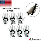 Men Golf Gloves Left Hand Right 6 Pack Leather Grip Soft Fit XL M L Large Medium