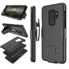 For Samsung Galaxy S9 / S9+ Rotate Slim Armor Belt Clip Holster Case Black Cover