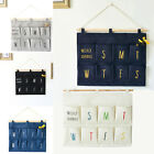 8 Pocket Shoe Door Hanging Organizer Storage Rack Wall Bag cotton & linen